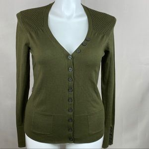 Tommy Hilfiger cardigan sweater button front green